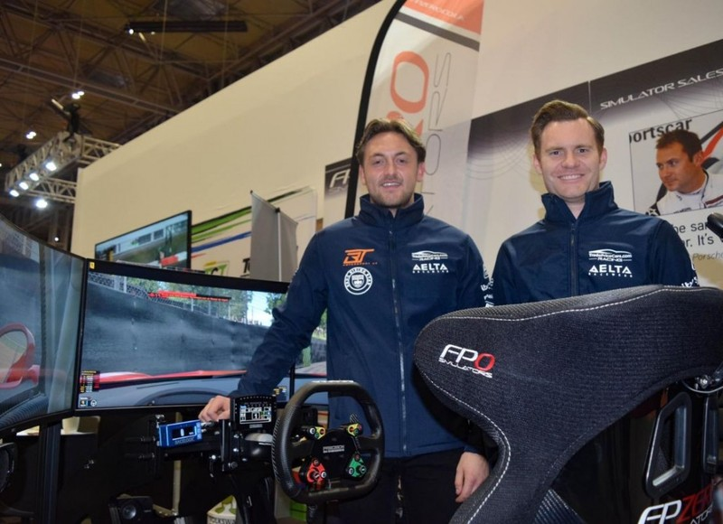 Bobby Thompson and James Gornall, TradePriceCars BTCC, with FPZERO Pro II Simulator