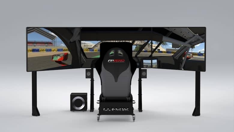 "FPZERO Pro II {{ label }} Simulator with triple 55"" 4k 120hz screens"