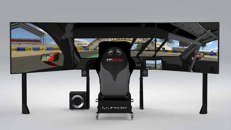 "FPZERO Pro II {{ label }} Simulator with triple 65"" 4k 120hz screens"