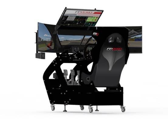 "FPZERO Pro II Simulator with triple 65"" 4k 120hz wrap around screens"