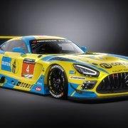 The Bilstein Mercedes AMG GT3 car for Dubai 24h 2021